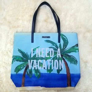 Kate Spade I Need A Vacation tote coated canvas